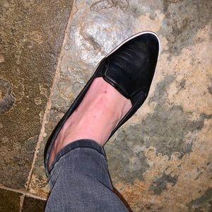 MICHAEL Michael Kors Black Leather Slip-on Shoe